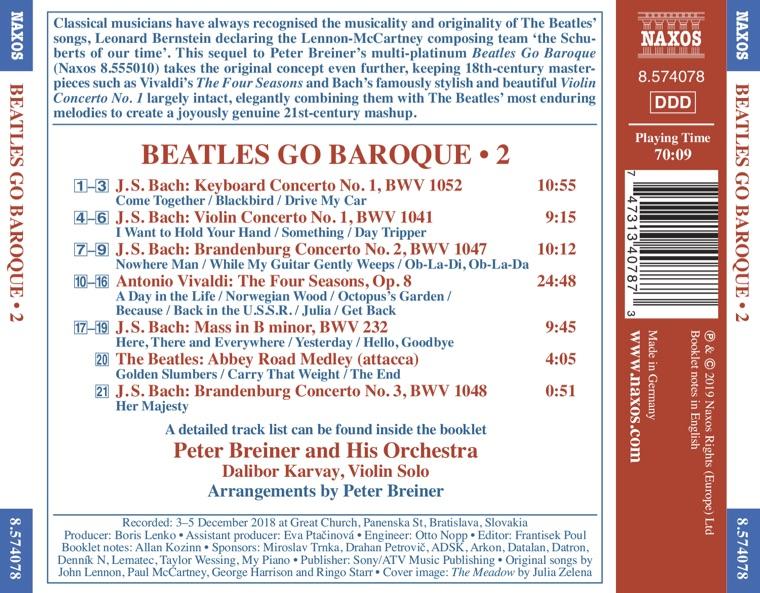 Beatles Go Baroque, vol. 2 - Contraportada