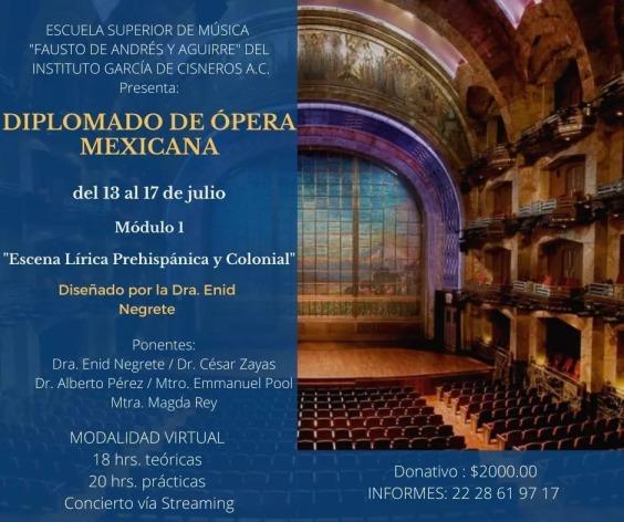 Módulo I Diplomado de Ópera Mexicana