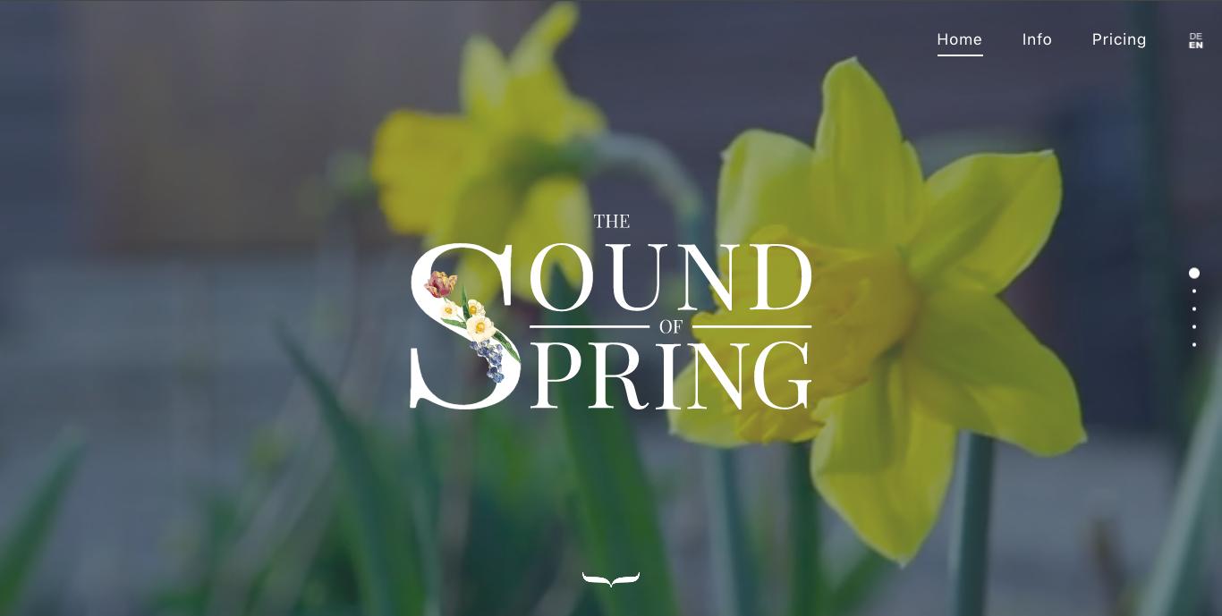 """Flores amarillas ilustran el sitio web """"The Sound of Spring"""""""