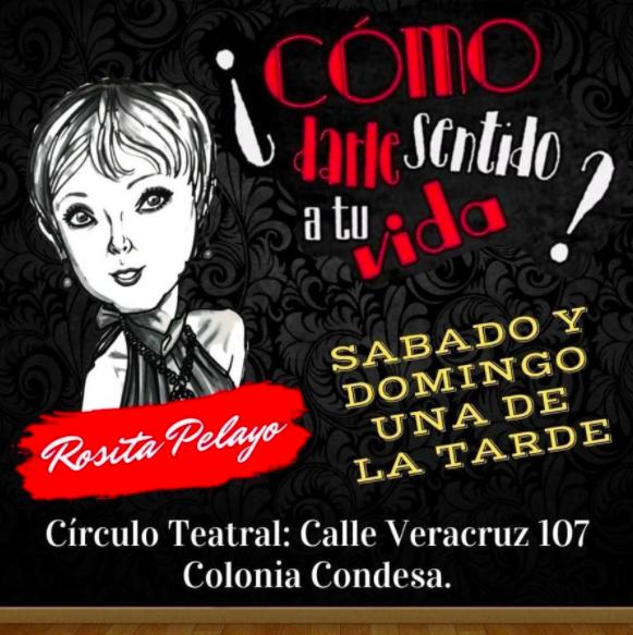 Rosita Pelayo actuará en el Círculo Teatral / Imagen: Boletópolis.